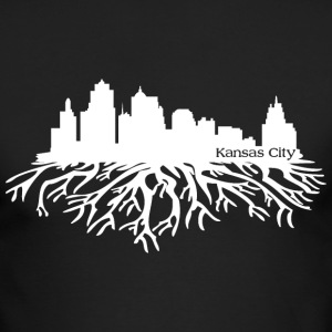 Kansas City Skyline Roots Long Sleeve Shirts - Men's Long Sleeve T-Shirt by Next Level