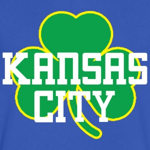 Kansas City Big Shamrock T-Shirts - Men's V-Neck T-Shirt by Canvas