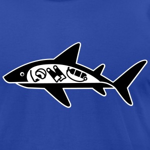 Shark ate scuba diver funny T-Shirt T-Shirts - Men's T-Shirt by American Apparel