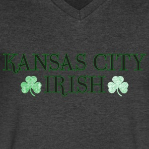 Kansas City Irish T-Shirts - Men's V-Neck T-Shirt by Canvas