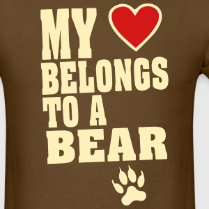 MY HEART BELONGS TO A BEAR T-Shirts - Men's T-Shirt
