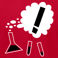 Design ~ Nothing in Biology test tubes and flask, red