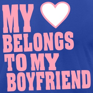 MY HEART BELONGS TO MY BOYFRIEND T-Shirts - Men's T-Shirt by American Apparel