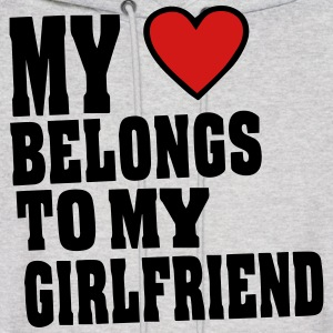MY HEART BELONGS TO MY GIRLFRIEND Hoodies - Men's Hoodie