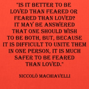 Niccolò Machiavelli Quote Bags & backpacks - Tote Bag