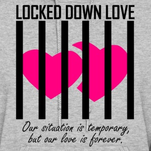 Locked Down Love - Black/Pink Hoodies - Women's Hoodie