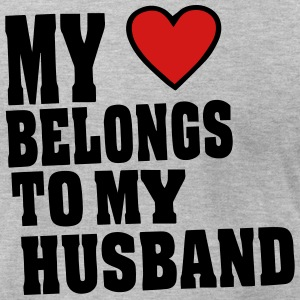 MY HEART BELONGS TO MY HUSBAND - Men's T-Shirt by American Apparel