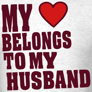 MY HEART BELONGS TO MY HUSBAND - Men's T-Shirt