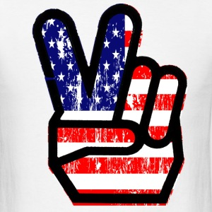 peace america - Men's T-Shirt