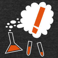 Design ~ Nothing in Biology test tubes and flask, black