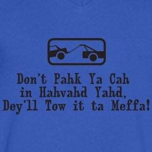 Park the Car In Harvard Yard Boston  T-Shirts - Men's V-Neck T-Shirt by Canvas