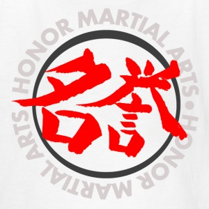 Honor Martial Arts Kanji Design Light Shirts Kids' Shirts - Kids' T-Shirt