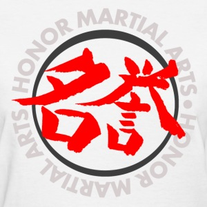 Honor Martial Arts Kanji Design Light Shirts Women's T-Shirts - Women's T-Shirt