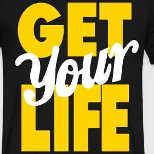 GET YOUR LIFE T-Shirts - Men's V-Neck T-Shirt by Canvas