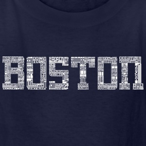Boston by Words Kids' Shirts - Kids' T-Shirt