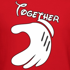 Together Mickey Hand Men's Crewneck Sweatshirt - Crewneck Sweatshirt