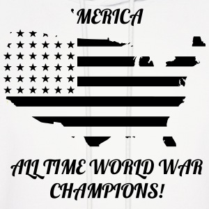 'Merica All time world war champions - Men's Hoodie
