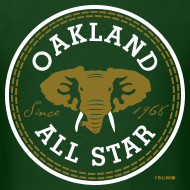 Design ~ Oakland All Star - Metallic Gold - Men's Tee