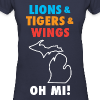 Lions & Tigers & Wings Oh MI! - Women's V-Neck T-Shirt