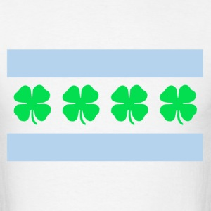St. Patrick's Day Chicago Flag  - Men's T-Shirt