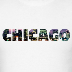 Chicago Skyline Text - Men's T-Shirt