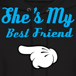 She is my Best Friend Hoodies - Men's Hoodie