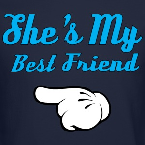 She is my Best Friend Long Sleeve Shirts - Crewneck Sweatshirt