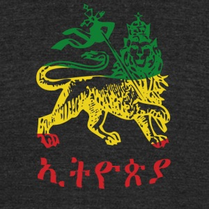 Ethiopia - Lion of Judah 3 color - Unisex Tri-Blend T-Shirt by American Apparel