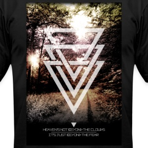 mystic forest triangles T-Shirts - Men's T-Shirt by American Apparel