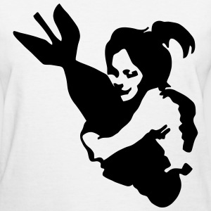 Girl Hugging Bomb - Women's T-Shirt