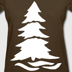 Pine Tree in Snow Women's T-Shirts - Women's T-Shirt