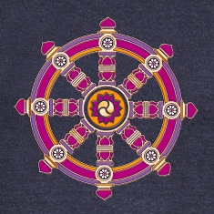 Dharma Wheel of Fortune, Buddhism, Chakra Long Sleeve Shirts