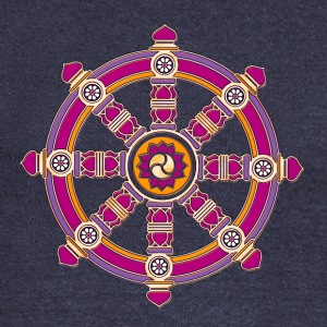 Dharma Wheel of Fortune, Buddhism, Chakra Long Sleeve Shirts - Women's Wideneck Sweatshirt