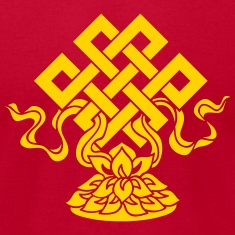 Eternal Knot, Endless, Lotus, Tibetan Buddhism, T-Shirts