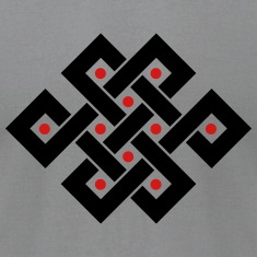 Tibetan endless knot, eternal, infinity, celtic T-Shirts