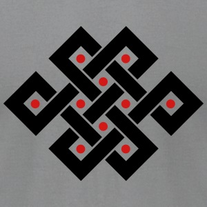 Tibetan endless knot, eternal, infinity, celtic T-Shirts - Men's T-Shirt by American Apparel