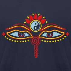 Buddha Eyes Lotus, Yin Yang, wisdom, enlightenment T-Shirts