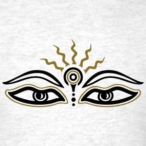 Buddha, third eye, symbol wisdom & enlightenment T-Shirts - Men's T-Shirt