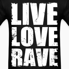 live love rave distressed