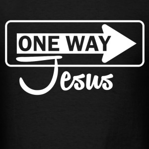 one way jesus - Men's T-Shirt