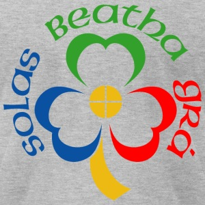 Solas Beatha Gra (Light, Life, Love in Gaelic) T-Shirts - Men's T-Shirt by American Apparel