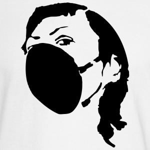 Woman with mask - polution Silhouette Stencil Long Sleeve Shirts - Men's Long Sleeve T-Shirt