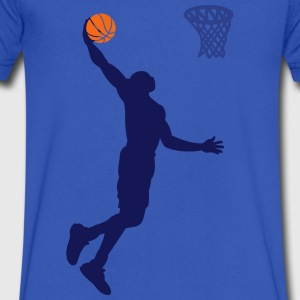 basketball big dunk 3 COLORS T-Shirts - Men's V-Neck T-Shirt by Canvas