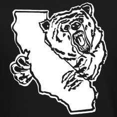 California Bear Map Long Sleeve Shirts