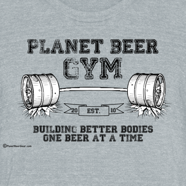 Planet Beer Gym Men's Tri-Blend Vintage T-Shirt