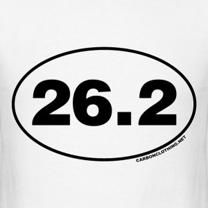 26.2 Miles Oval - Men's T-Shirt