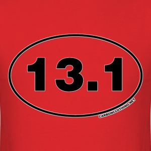 13.1 Miles Oval - Men's T-Shirt
