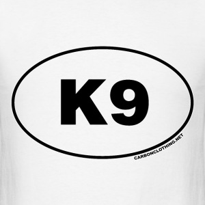K9 Dog Oval - Men's T-Shirt