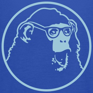 nerd ape with glasses Tanks - Women's Flowy Tank Top by Bella