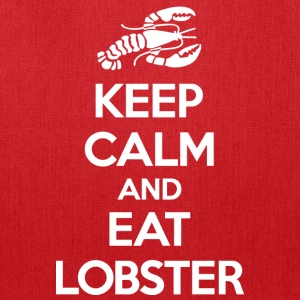Keep Calm Eat Lobster White Bags & backpacks - Tote Bag